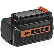 [Patrocinado] amityke 2000mAh 40V max–Batería de repuesto para Black & Decker lbx2040lbx36lbxr36lbxr203640V batería de ion de litio