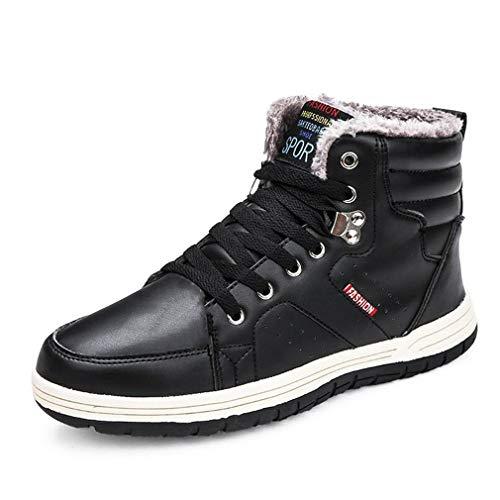 colore Passeggio In Cashmere Invernali Cotone 47 Nero Dimensione Piatte Hy Casual Nero Da Uomo Scarpe Sneakers Caldo RqY07Pw