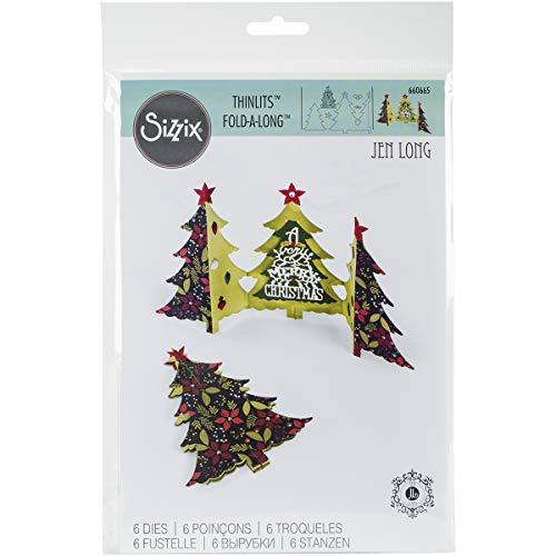 Sizzix Thinlits Die, Christmas Tree Fold Jen Long, 6 Pack