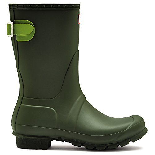 Hunter Womens Original Adjustable Back Short Snow Waterproof Rain Boots - Dark Olive/Kelp - 5 by Hunter (Image #3)