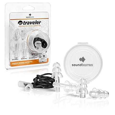 SoundBarren Traveler Ear Plugs, Noise Reducing Earplugs