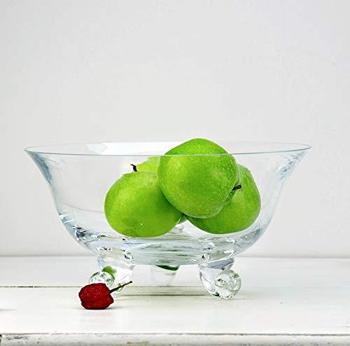 1.5Litres SOALVIA Clear Glass Trifle Fruit Bowl 24 x 12 cm Entertain Three Leg Bowl
