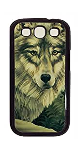 Hard Case Back Custom PC phone case for samsung galaxy s3 - Two find food Wolf