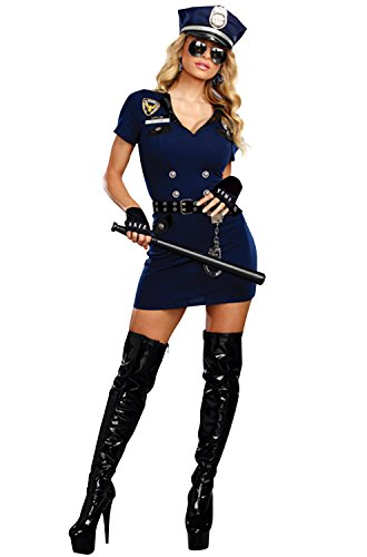 Dreamgirl Women's Officer Pat U. Down, Blue M]()
