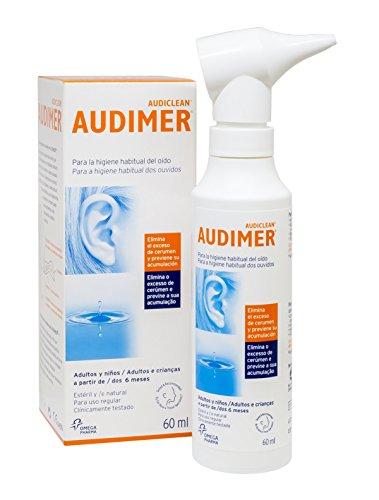 🥇 Audimer Spray Higiene Habitual del Oído Elimina Exceso de Cera y Previene la Acumulación de Cerumen Apto Uso Diario