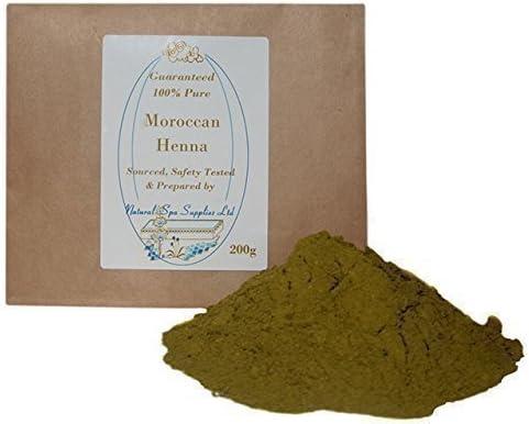 Natural Spa Supplies - Polvo de henna marroquí, 100% puro y natural, 200 g