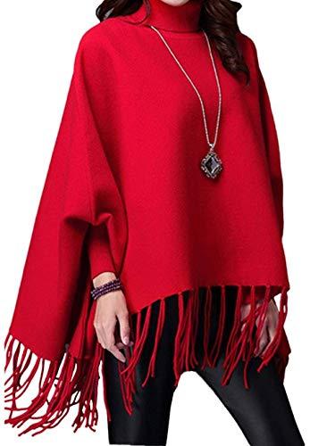 Top Nappa Rot Camicie Per Collo Fashion La Laisla Felpe Classiche Donna Maglioni Da Con Maglione Pullover Primavera Alto Autunno Lunghe Donne Maniche WngnFpwf