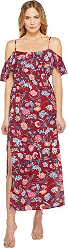 Boho-Chic Vacation & Fall Looks - Standard & Plus Size Styless - Lucky Brand Women's Floral Maxi Dress Red Multi Dress