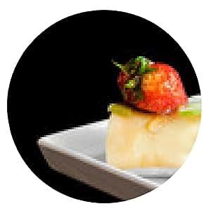 alfombrilla de ratón rollo de pastel de frutas con crespón - ronda - 20cm
