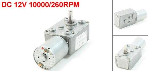 DC 12V 10000//260RPMRechteck geformt Gear Box 2 Terminal elektrischer Motor DE de