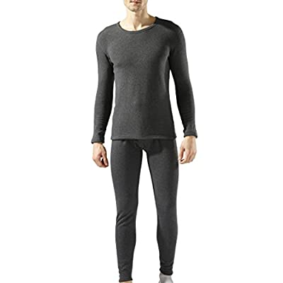 Cheap New Step Men's Double Layer Thicken Thermal Underwear Top & Bottom Set Fleece Lined for cheap