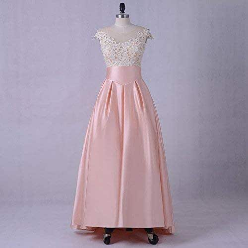 Pink And White Wedding Gowns: Amazon.com: White And Pink Satin Wedding Guest Bridesmaid