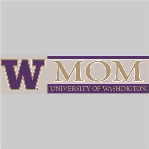 Washington Huskies Die Cut Decal Strip - Mom