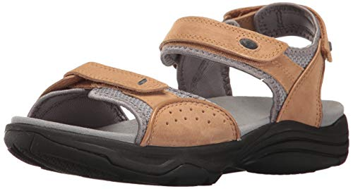 (CLARKS Women's Wave Grip Sandal, Smokey Brown Nubuck, 80 M US)