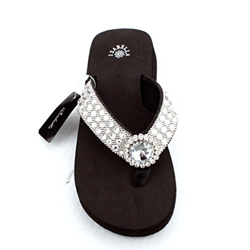 Western Rhinestone Bling Bling Flip Flops in 7 Different Styles (X-Large, Diamond Concho Rhinestone)