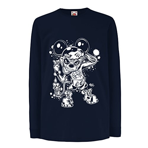 lepni.me T-Shirt For Kids a Mouse With an Amazing Halloween Costume (12-13 Years Blue Multi Color) - Homemade Viking Costume Men