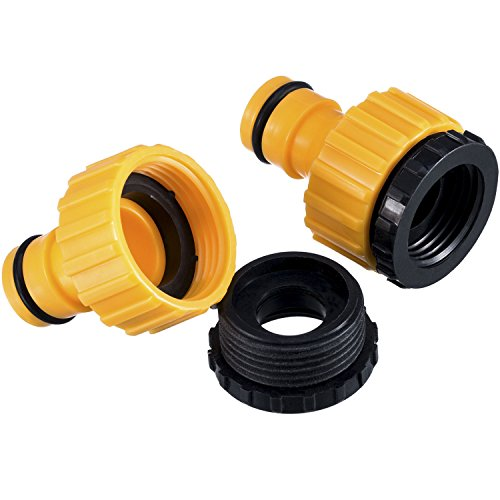 2 Pack Plastic Garden Hose Tap Connector, 1/ 2 Inch And 3