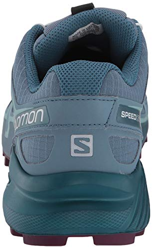 Salomon Women's Speedcross 4 W Trail Running Shoe, Bluestone/Mallard Blue/Dark Purple, 5.5 Standard US Width US by Salomon (Image #2)