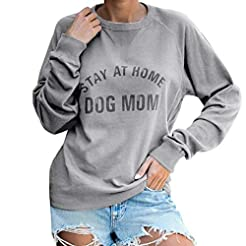 Acilnxm Womens Long Sleeve Crewneck Swea...