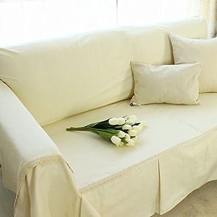 Pure Cotton Ticking Stripe Sofa Slipcover, Soft And Comfortable, Machine  Washable (190x300cm,