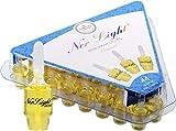 Pre-Filled Oil Hanukkah Menorah Oil Glass Cup Candles Ner Light Chanukah Oil Cups 44 Original 100 Percent  Olive Oil Cups