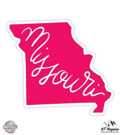 Missouri Pink State Shape - 3