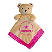 NFL Football Baby Infant Girls Pink Security Snuggle Bear Blanket (Dallas Cowboys)
