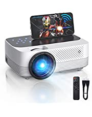 $109 » Mini Projector, 1080P Full HD Supported, WiFi Projector, 6500L Movie Projector with Synchronize Smartphone Screen, Video Projector Compatible with TV Stick, HDMI,PS5,USB,AV,SD,Laptop (2021 Upgraded)