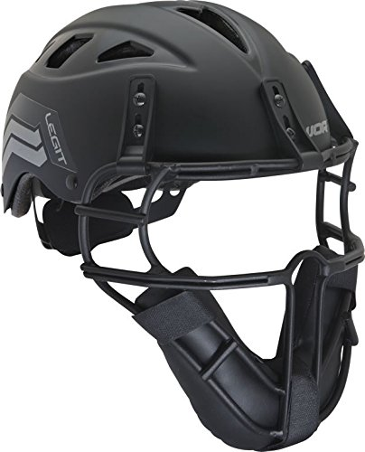 Worth Legit Slowpitch Softball Pitcher's Mask, Black ()