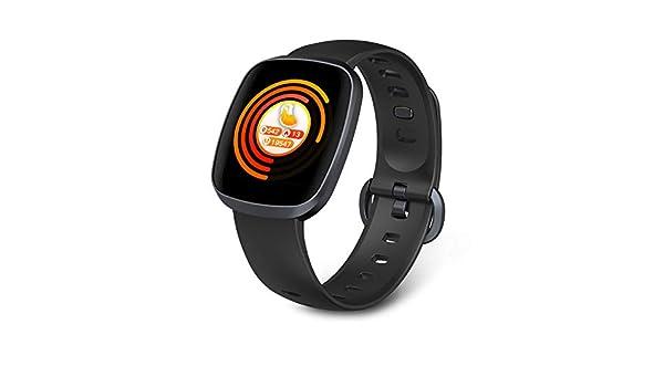 PHIPUDS Smartwatch, Reloj Inteligente Impermeable IP67 con Pulsómetro, Cronómetro, Monitor de sueño,Podómetro,Calendario, Pulsera Actividad para ...