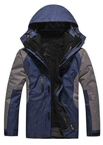 APTRO Men's Jacket 3 in 1 Windbreaker Taped Rainproof Zipper Navy Size M