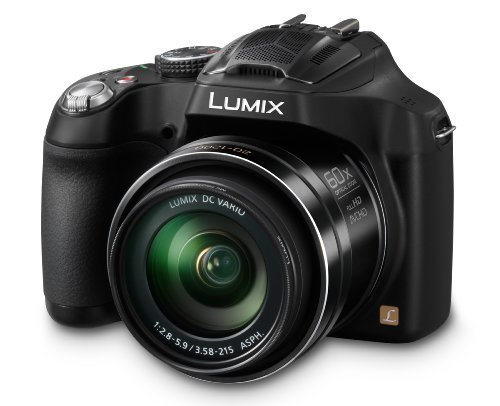 Panasonic LUMIX DMC-FZ70 16 1 MP Digital Camera with 60x Optical Image Stabilized Zoom and 3-Inch LCD (Black) by Panasonic