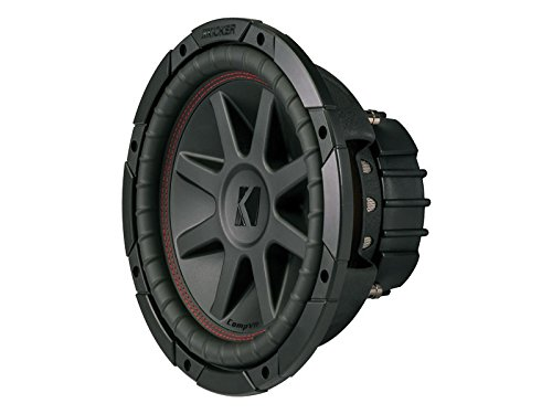 Kicker CVR104 (43CVR104) CompVR 10-Inch (25cm) Subwoofer, Dual Voice Coil, 4-Ohm, 350W