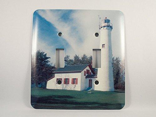 (Sturgeon Point Michigan Lighthouse Light Switch Plate)