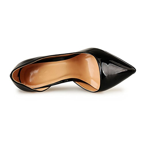fereshte Women's Men's Stilettos High-Heeled Shoes Pumps Black nYtDBjCrY0