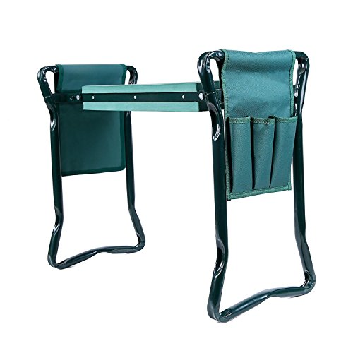 Chair Garden Seat - Ohuhu Garden Kneeler and Seat with 2 Bonus Tool Pouches