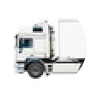 alfombrilla de ratón camión blanco - ronda - 20cm