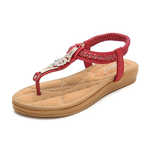sandals red - 3
