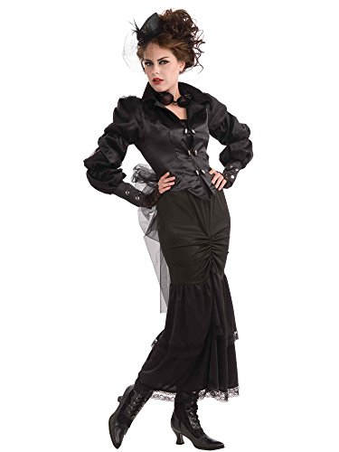 Woman's Steampunk Victorian Lady Costume, Black, One Size ()