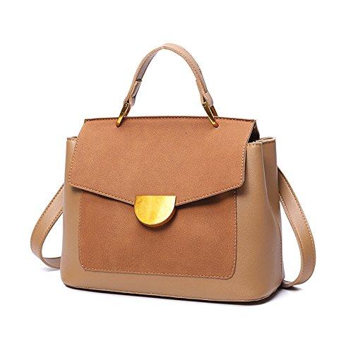 ZXCB Bolso De Mujer Vintage Multi-bolsillo Pequeño Bolso Cuadrado Ms. Bag Bolso De Viaje De Hombro Simple Bolso De Viaje De Trabajo Brown