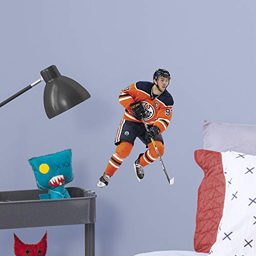 (FATHEAD NHL Edmonton Oilers Connor McDavid Officially Licensed Removable Wall Decal, Multicolor, Large)