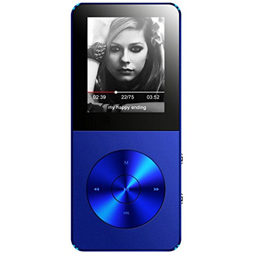 MP3 Player, Music Players - FecPecu Updated Version 8GB Hi-Fi Sound 35 Hours Playback , Portable Audio Player Build-in Speaker With Voice Recorder and FM Radio Expandable Up To 64GB (Blue)
