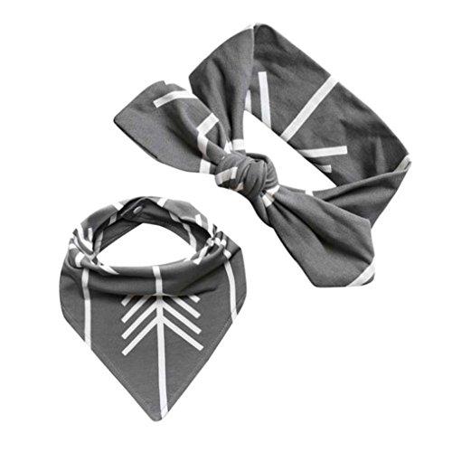 Price comparison product image Alonea Baby Kids Bandana Bib Feeding Saliva Towel Triangle Waterproof Headband Set (G)