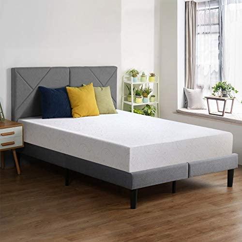 PrimaSleep 11 Inch Dura Gel Deluxe Comfort Memory Foam Mattress, Full, White