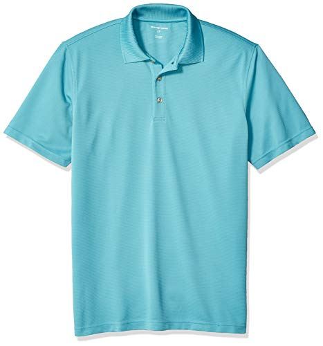 Geoffrey Beene Men's Big and Tall Short Sleeve Ottoman Solid Polo Shirt, Porcelain, Large Tall