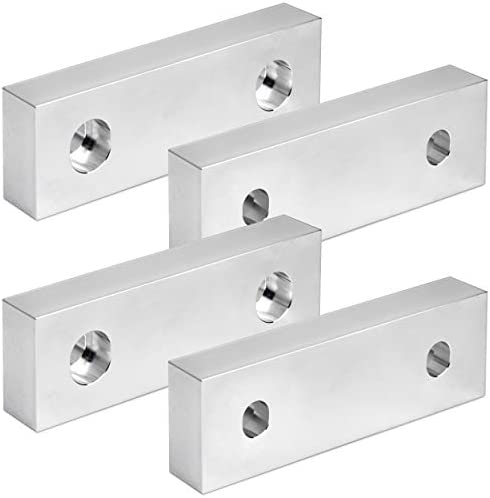 Reversible Aluminum Soft Jaws for 6 Vice - 6X2X1 CompatibleKurt and Others