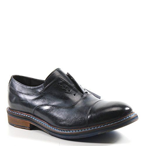 TESTOSTERONE Shoes Camp Around Leather Oxford (45, Navy)