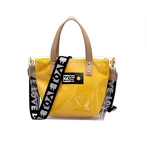 de Shopper de Mujer de Bolsos y mujer totes ocio bolsos Bandolera Shoppers hombro Lona mochila Tote Bolso Bolsos bandolera Amarillo Bolsa para Bolsos dRYYq