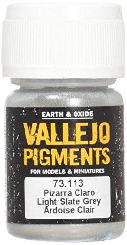 - Vallejo Light Slate Grey Pigment, 30ml