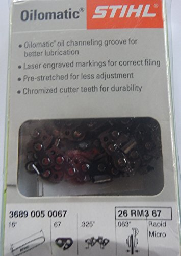 3-Stihl-16-67-Drive-Link-325Pitch-063-Gauge-Rapid-Micro-Chains-26-RM3-67-Not-for-Stihl-025-or-Ms250s-16-bars